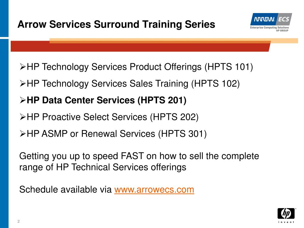 Arrow Services Surround Training Series