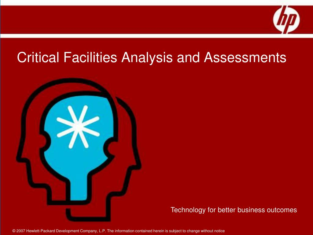 Critical Facilities Analysis and Assessments