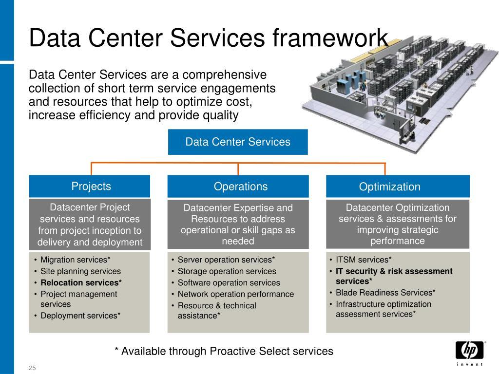 Data Center Services framework