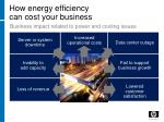 how energy efficiency can cost your business