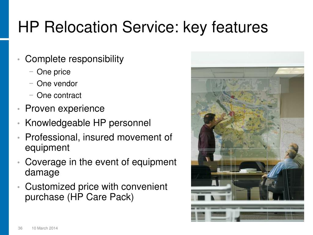 HP Relocation Service: key features