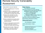 remote security vulnerability assessment