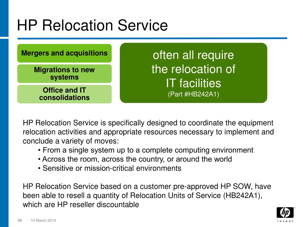 HP Relocation Service