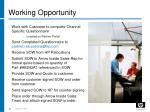 working opportunity