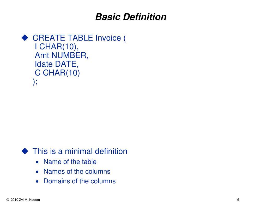 Basic Definition