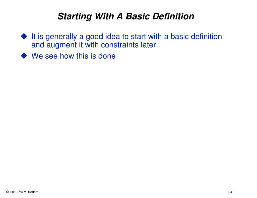 Starting With A Basic Definition