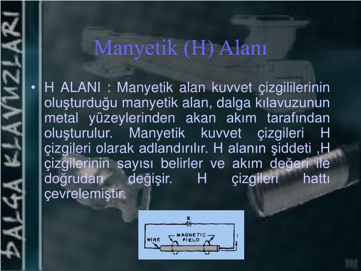 Manyetik (H) Alanı