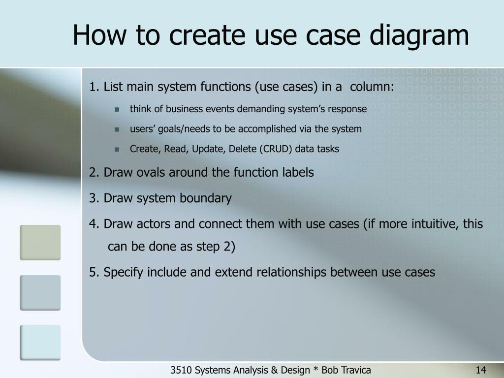 How to create use case diagram