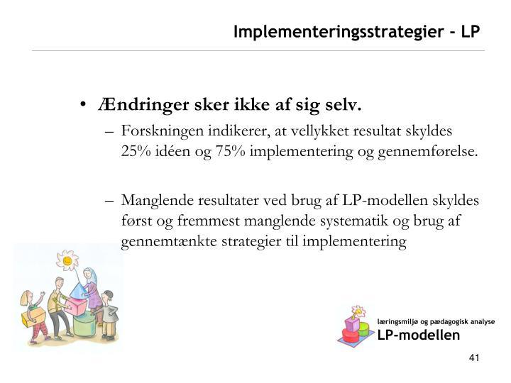 Implementeringsstrategier - LP