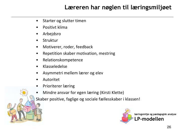 læringsmiljø og pædagogisk analyse