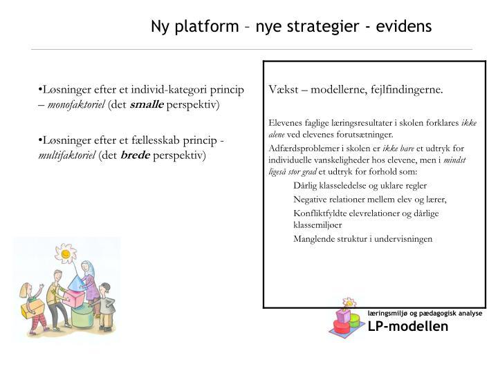 Ny platform – nye strategier - evidens