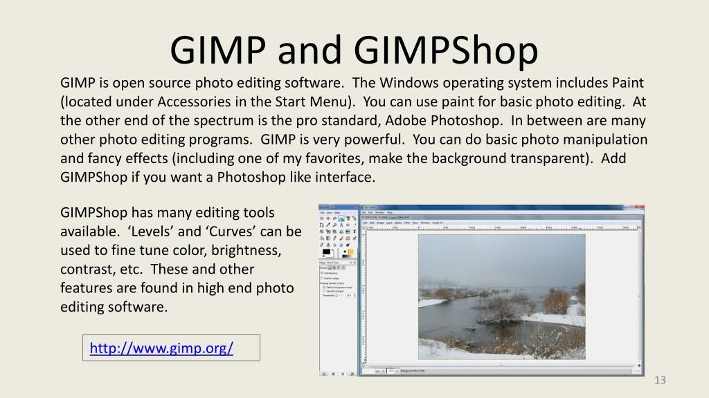 GIMP and GIMPShop