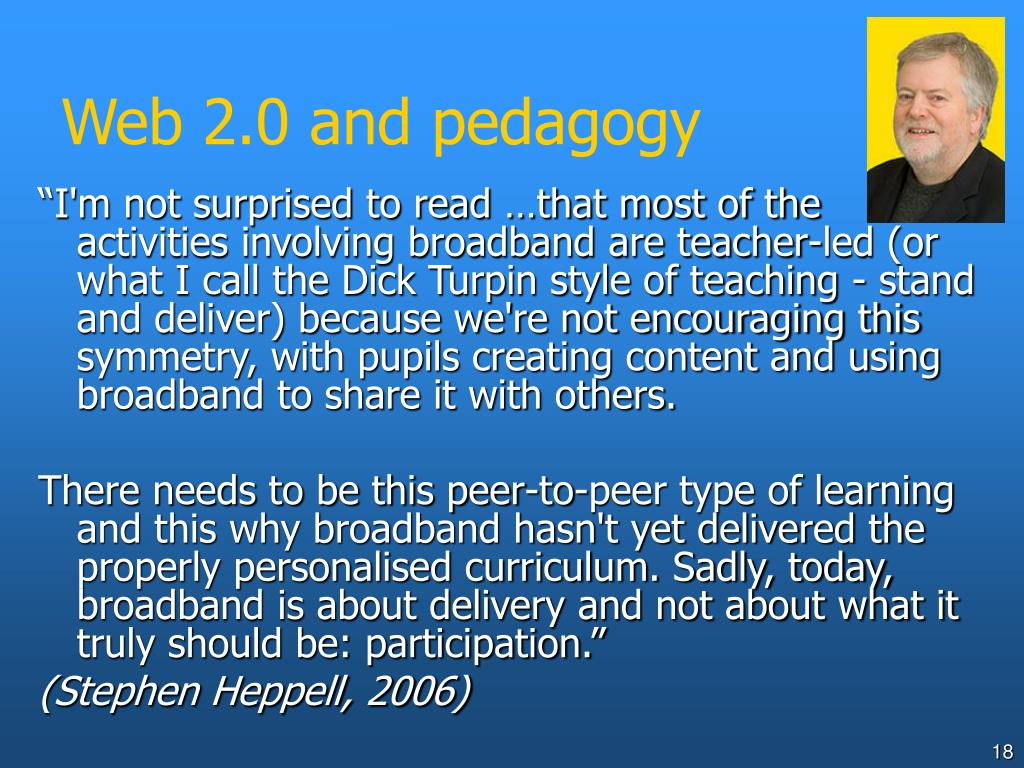 Web 2.0 and pedagogy