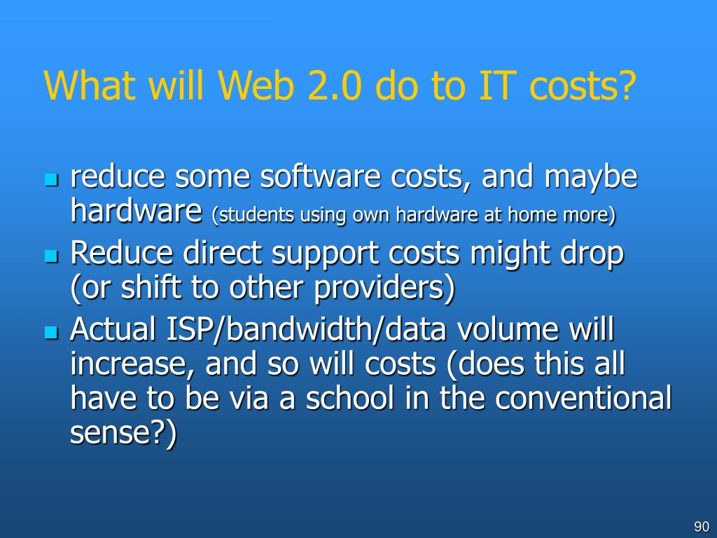 What will Web 2.0 do to IT costs?