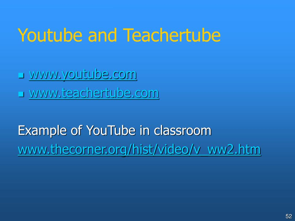 Youtube and Teachertube