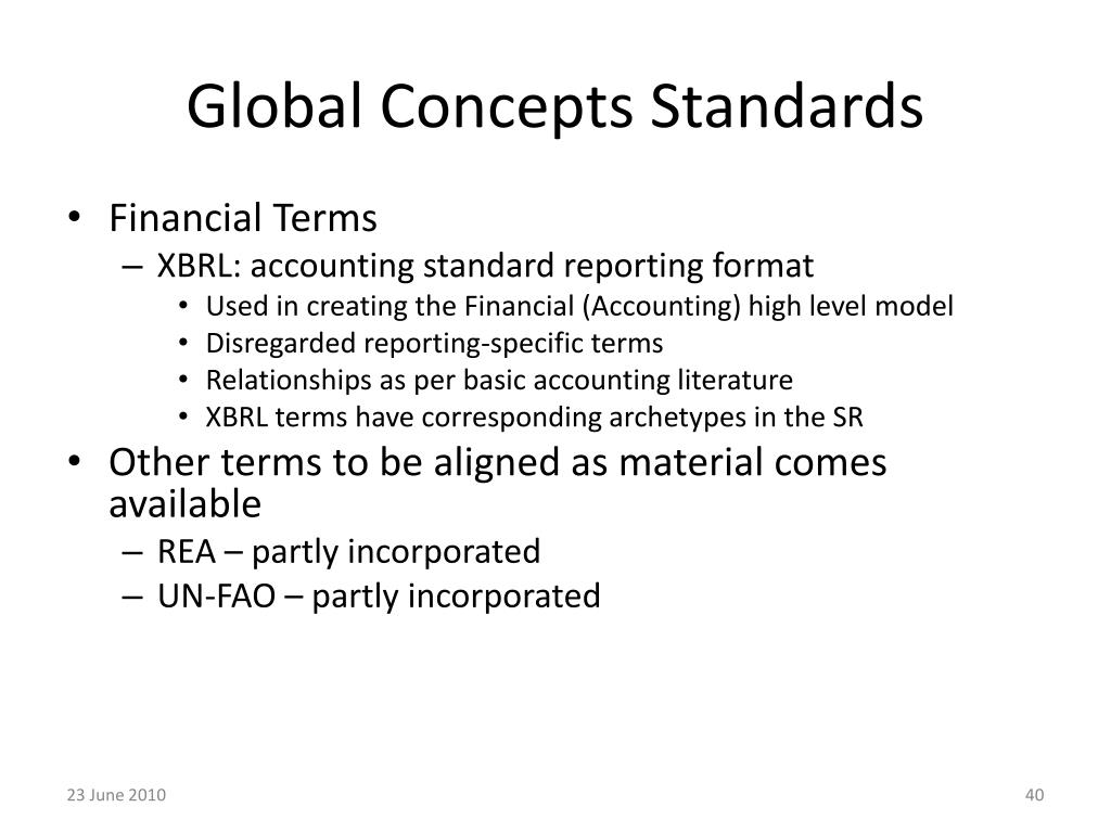 Global Concepts Standards