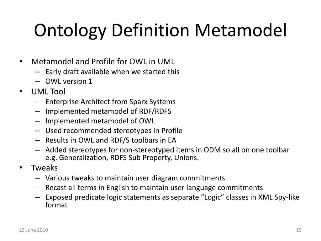 Ontology Definition Metamodel