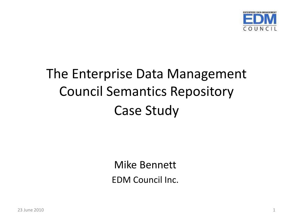 The Enterprise Data Management Council Semantics Repository