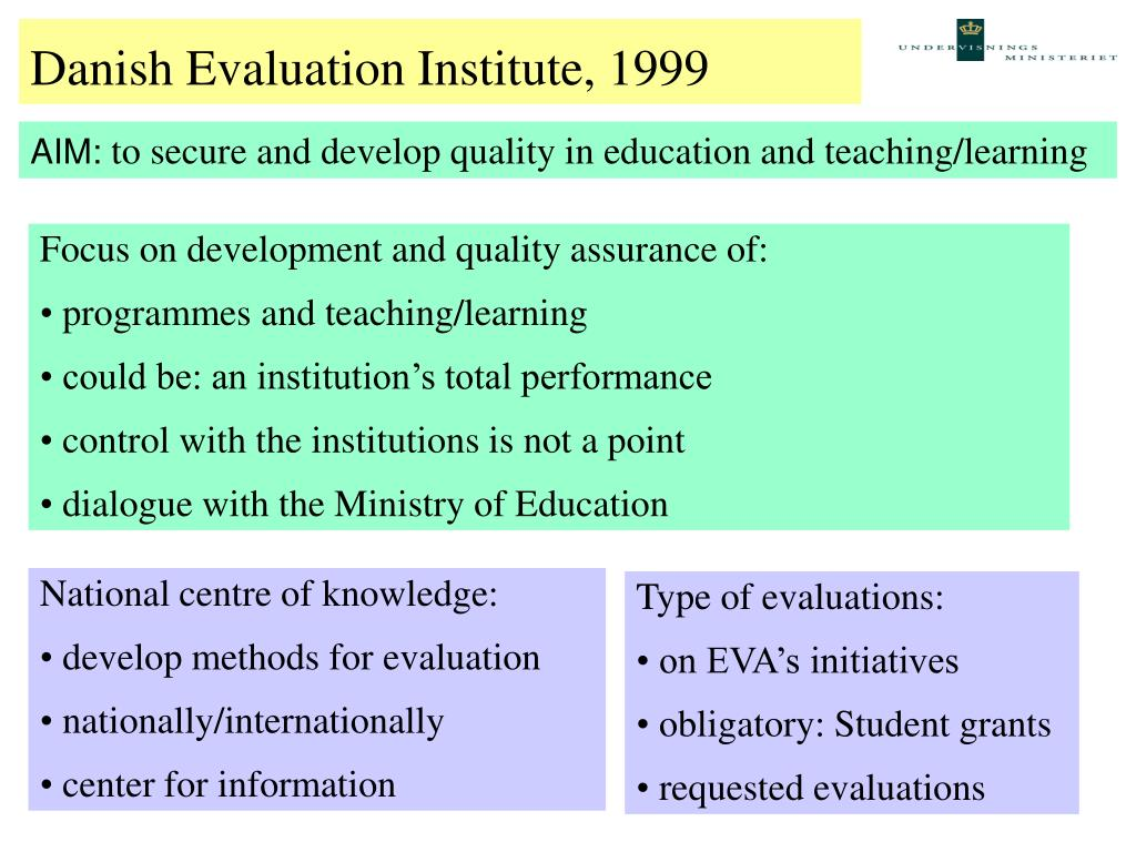 Danish Evaluation Institute 1 (1999)