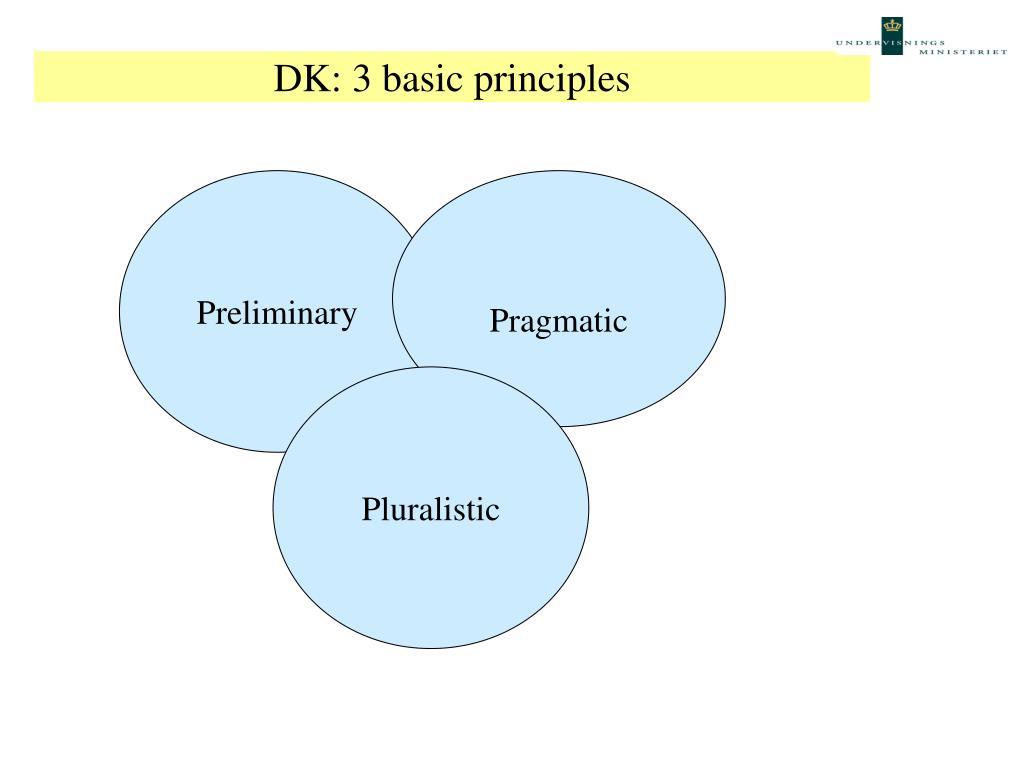 DK: 3 basic principles