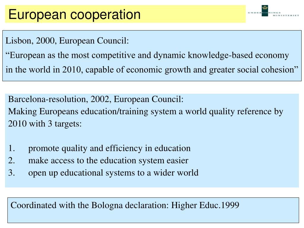 European cooperation