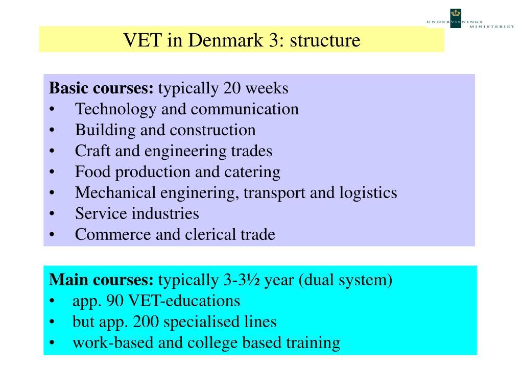 VET in Denmark 3: structure