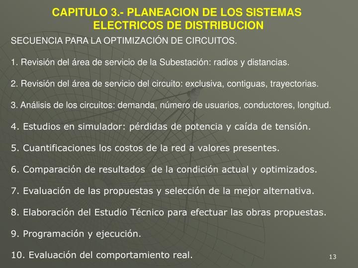 CAPITULO 3.- PLANEACION DE LOS SISTEMAS