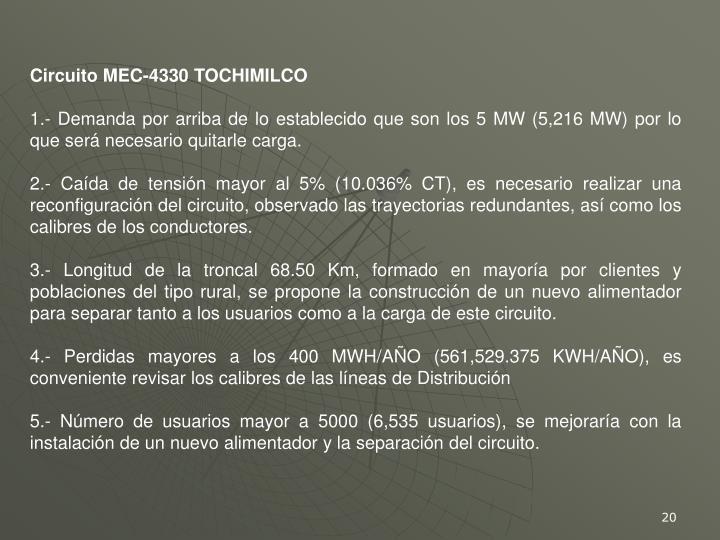 Circuito MEC-4330 TOCHIMILCO
