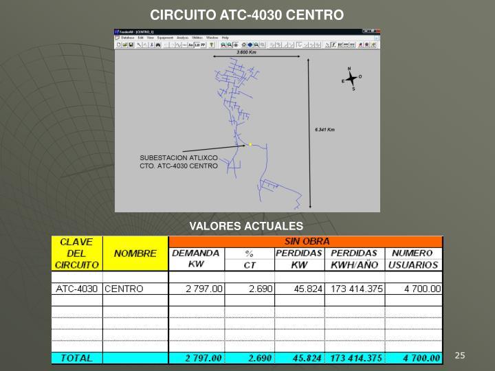 CIRCUITO ATC-4030 CENTRO
