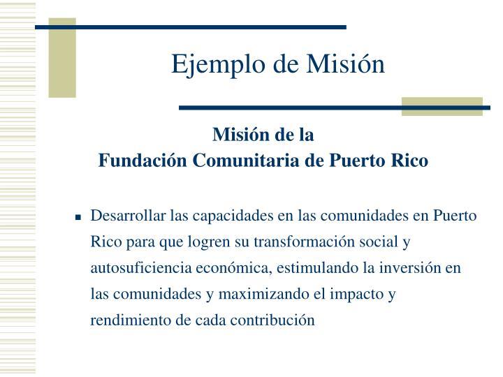 Ejemplo de Misión