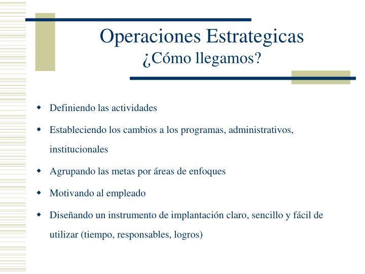 Operaciones Estrategicas