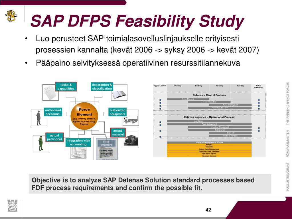 SAP DFPS Feasibility Study