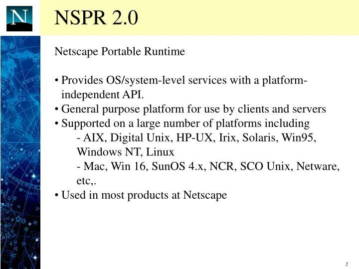 NSPR 2.0