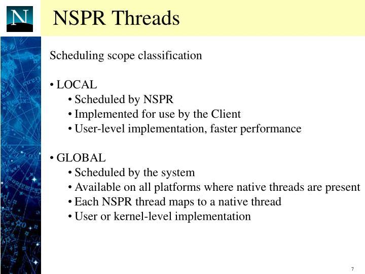 NSPR Threads