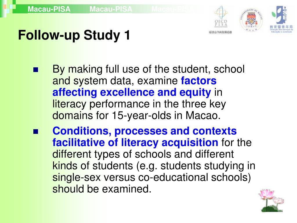 Follow-up Study 1