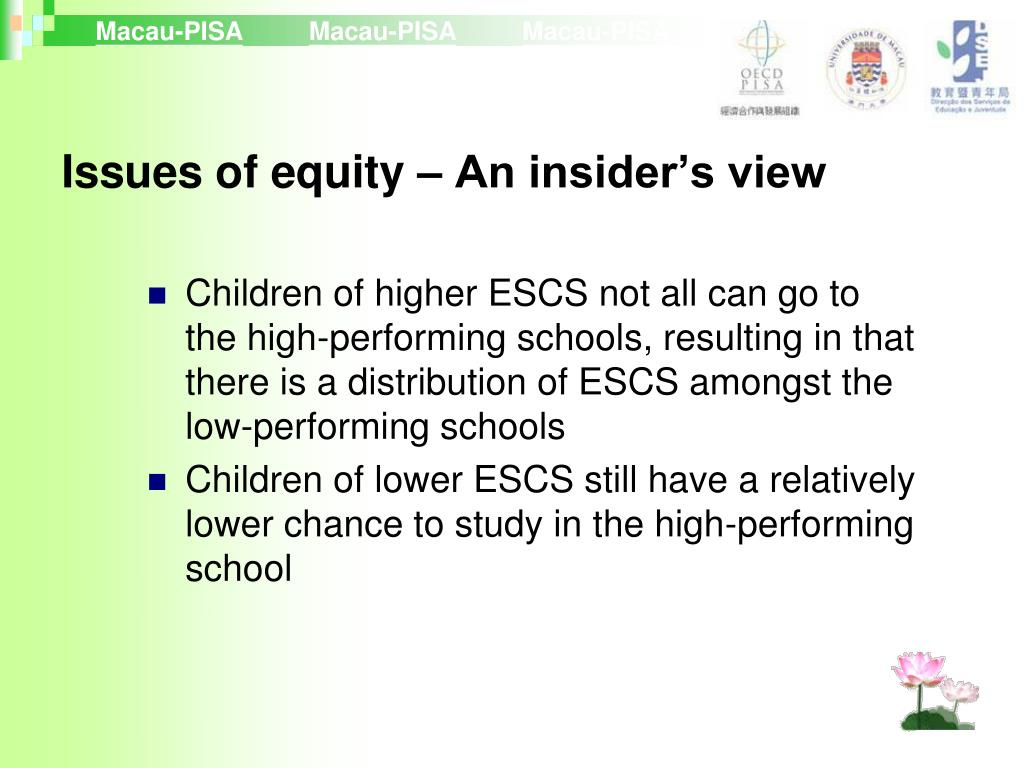 Issues of equity – An insider's view
