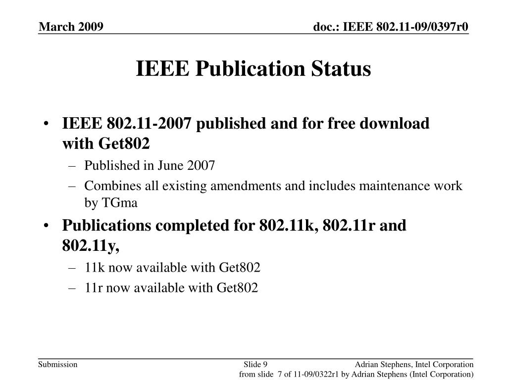 IEEE Publication Status