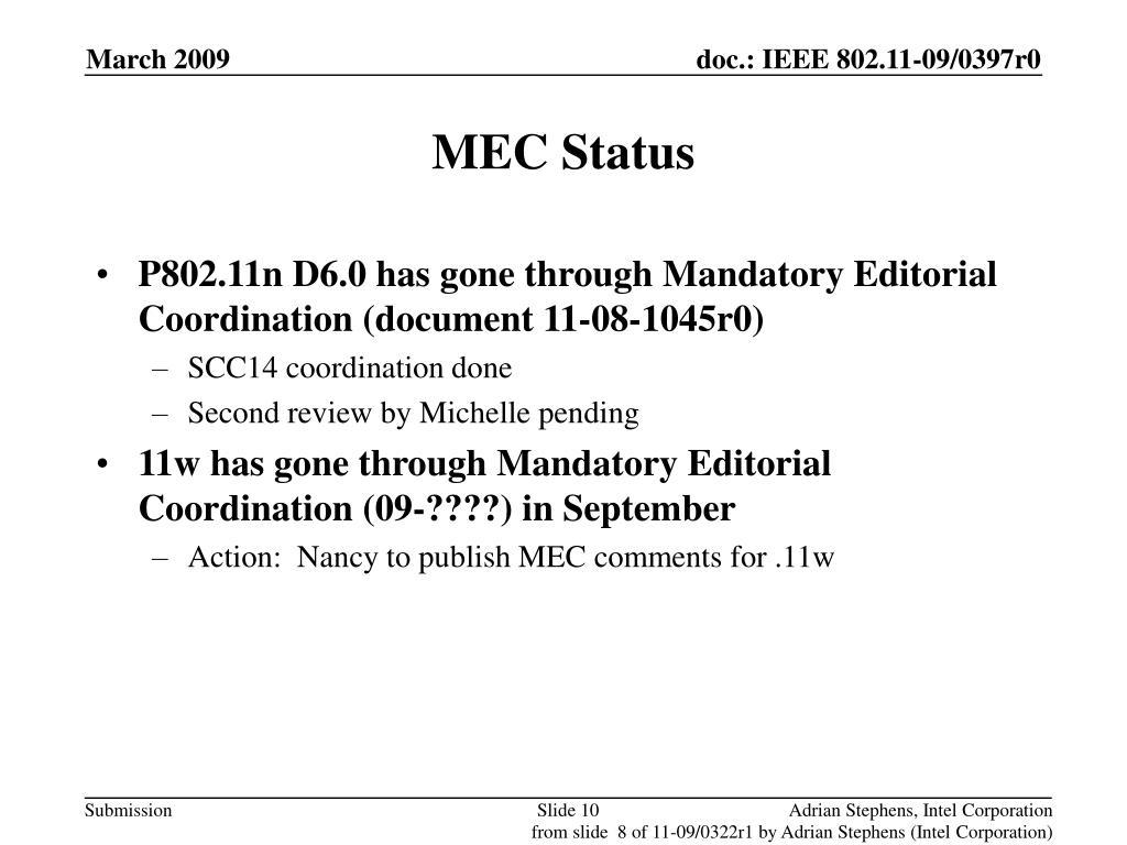 MEC Status