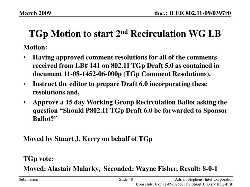 TGp Motion to start 2