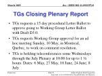 tgs closing plenary report52