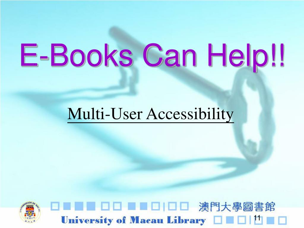 E-Books Can Help!!