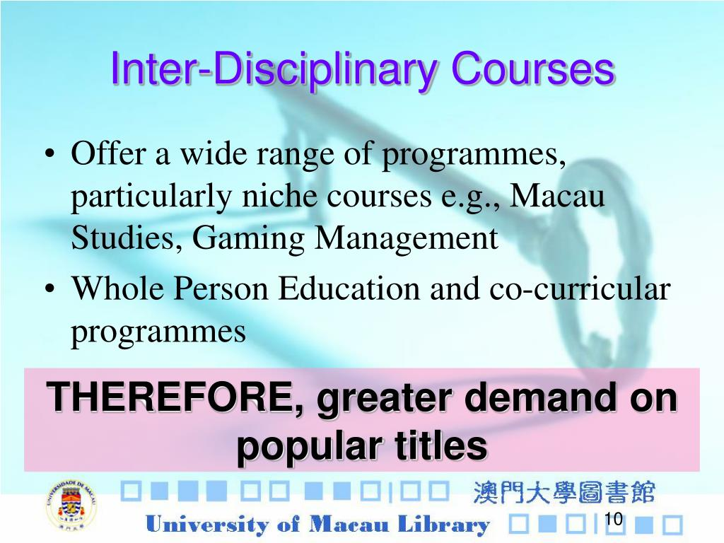 Inter-Disciplinary Courses