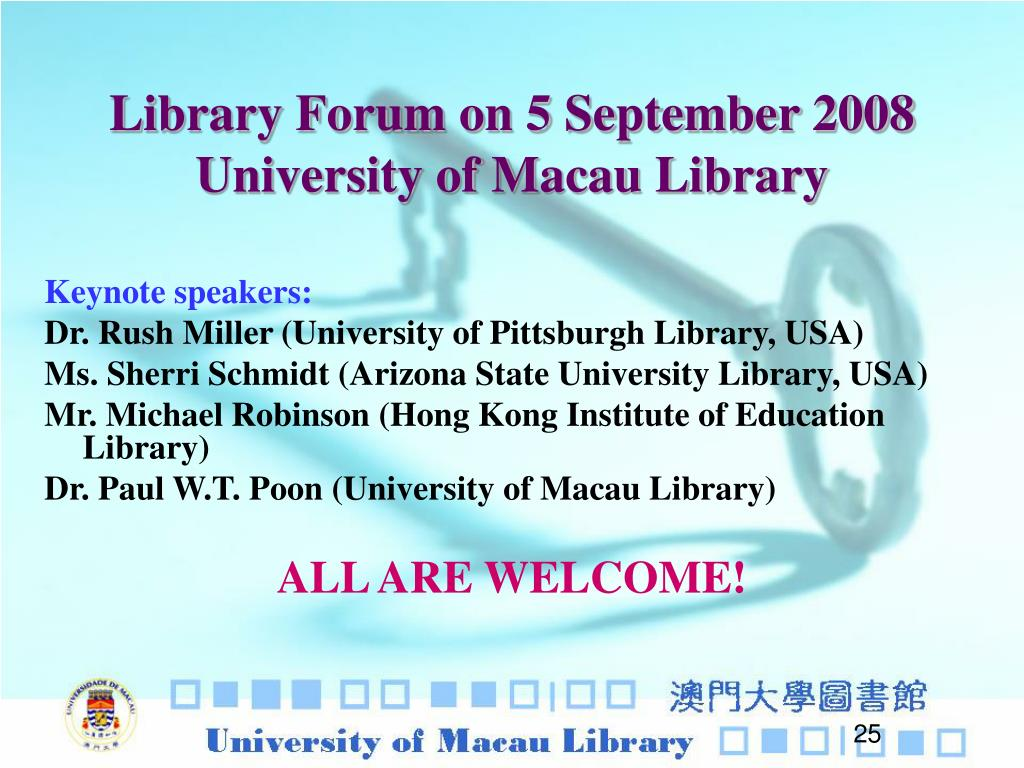 Library Forum on 5 September 2008