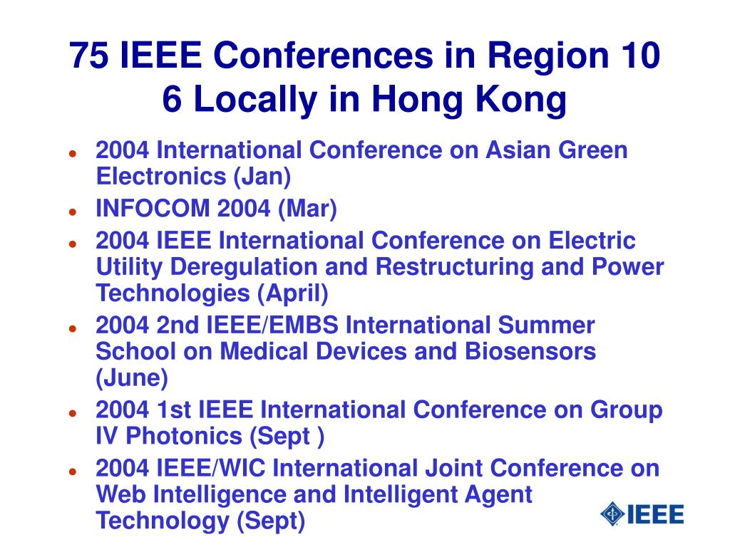 75 IEEE Conferences in Region 10