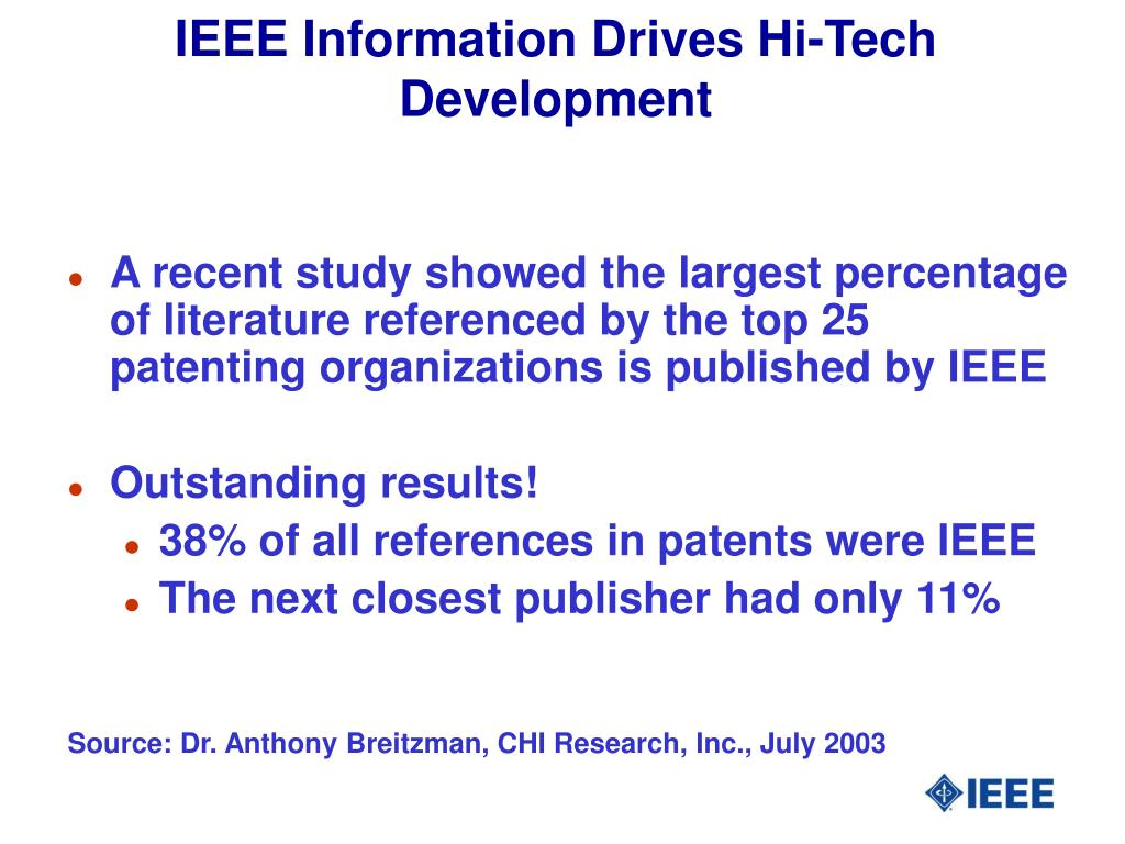 IEEE Information Drives Hi-Tech Development