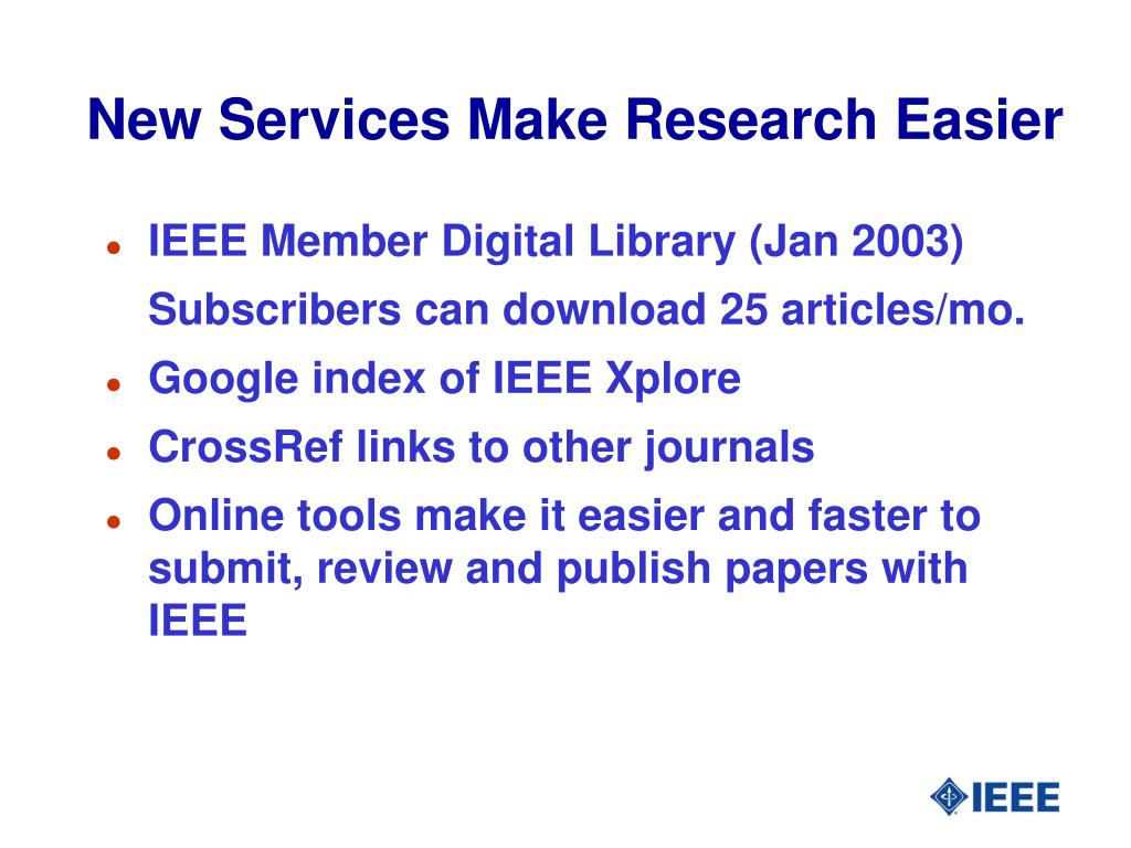 New Services Make Research Easier