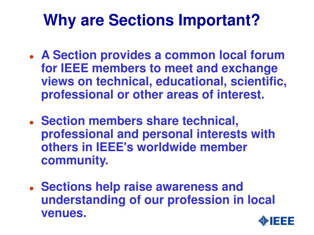 Why are Sections Important?