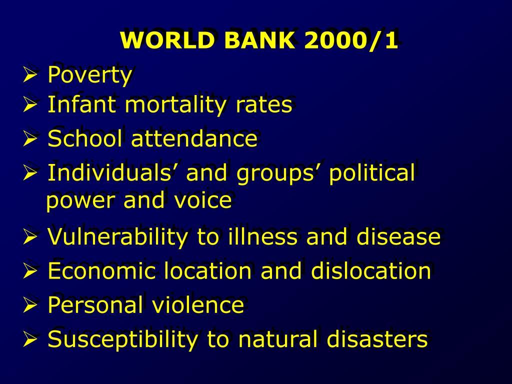 WORLD BANK 2000/1