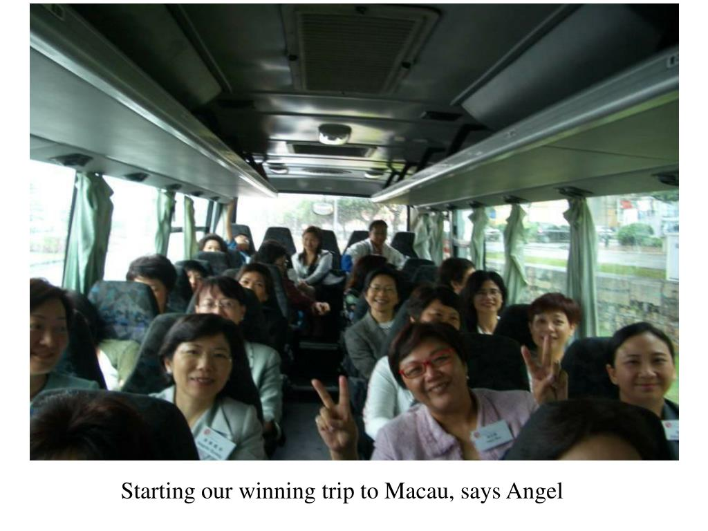 Starting our winning trip to Macau, says Angel
