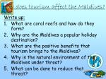 how does tourism affect the maldives
